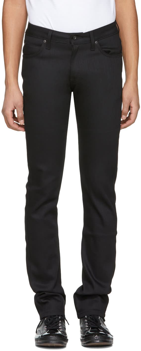 Naked And Famous Denim Black Skinny Guy Jeans