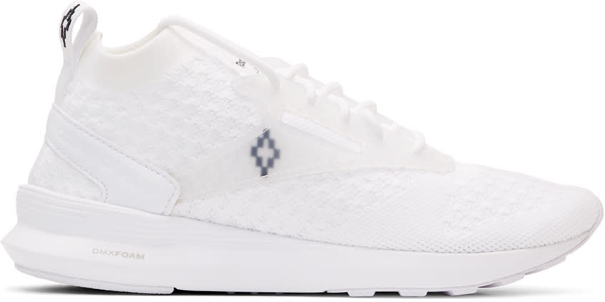 Marcelo Burlon County Of Milan White Reebok Classic Edition Zoku Runner Utlk Sneakers