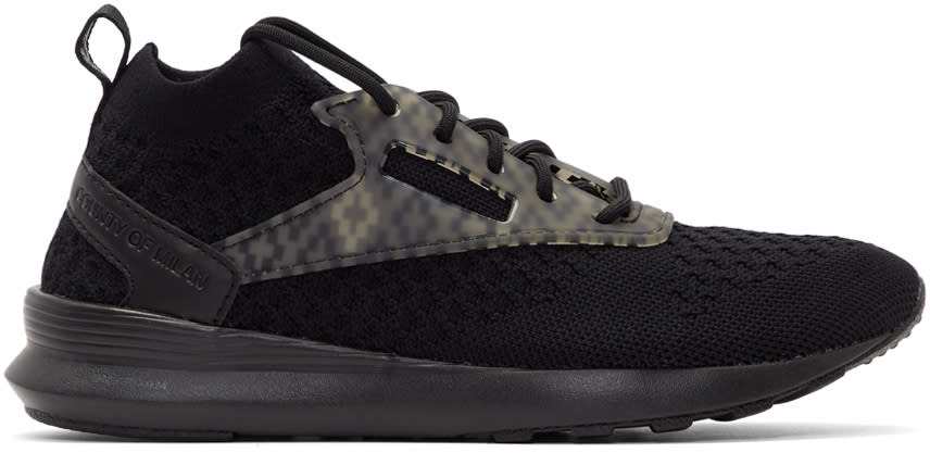 Marcelo Burlon County Of Milan Black Reebok Classics Edition Zoku Runner Utlk Sneakers