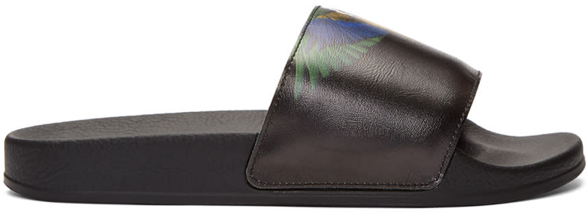 Marcelo Burlon County Of Milan Black Color Wing Slides