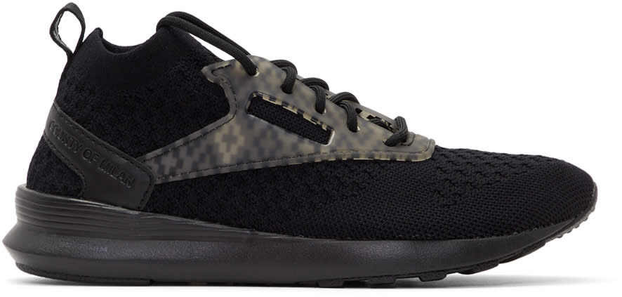 Marcelo Burlon County Of Milan Black Reebok Classic Edition Zoku Runner Utlk Sneakers