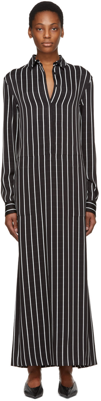 Haider Ackermann Black and White Stripe Morganite Dress