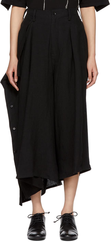 901e803c73b Yohji Yamamoto Black Buttoned Side Trousers