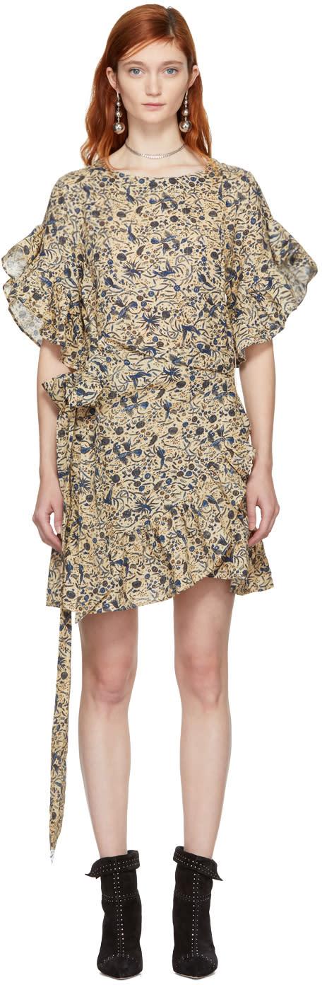 Image of Isabel Marant Etoile Beige Delicia Dress