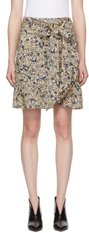 Image of Isabel Marant Etoile Beige Tempster Miniskirt