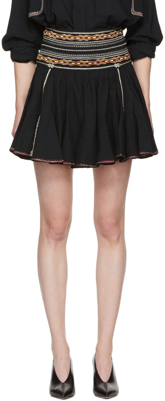 Image of Isabel Marant Etoile Black Breeda Miniskirt