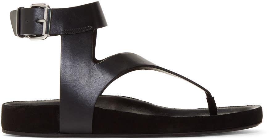 Isabel Marant Black Elwina Sandals