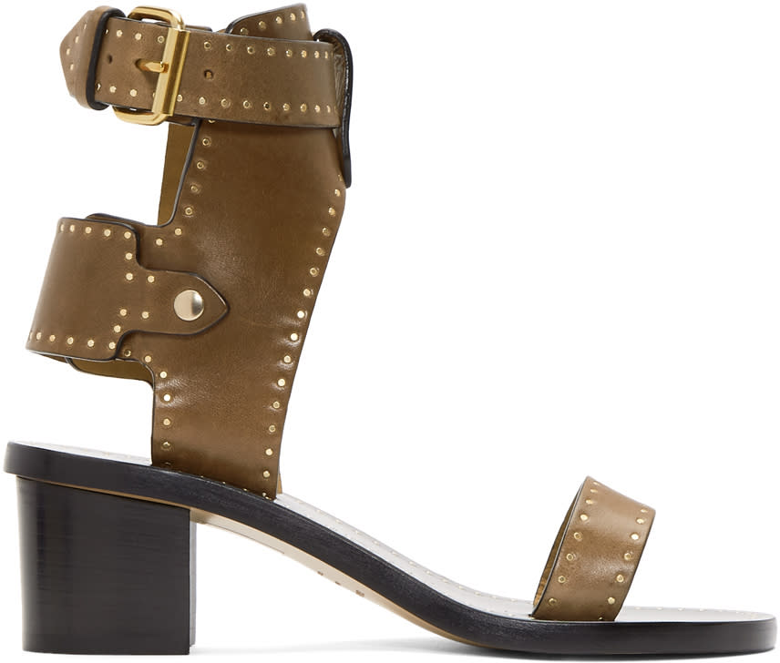 Isabel Marant Brown Iconic Jearyn Sandals