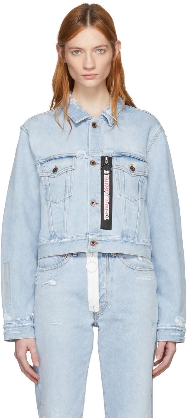 ブルー ブリーチ Temperature クロップド デニム ジャケット