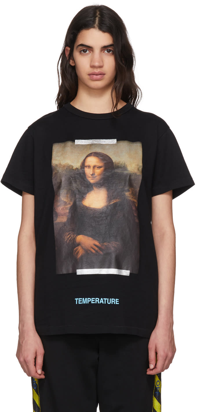Off-white Black Monalisa T-shirt