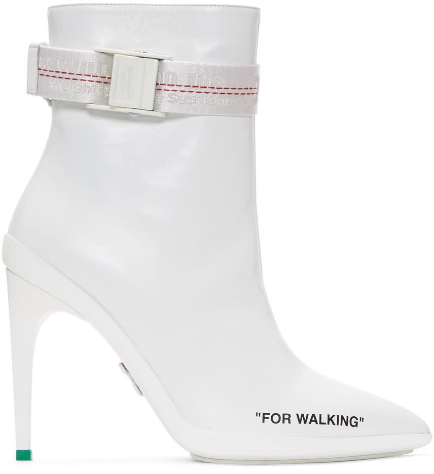 ホワイト For Walking アンクル ブーツ