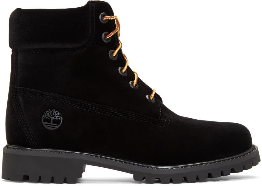 ブラック Timberland Edition ベルベット ブーツ