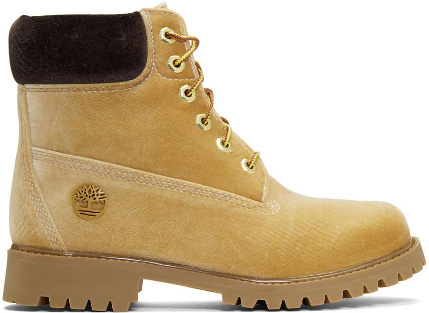 タン Timberland Edition ベルベット ブーツ