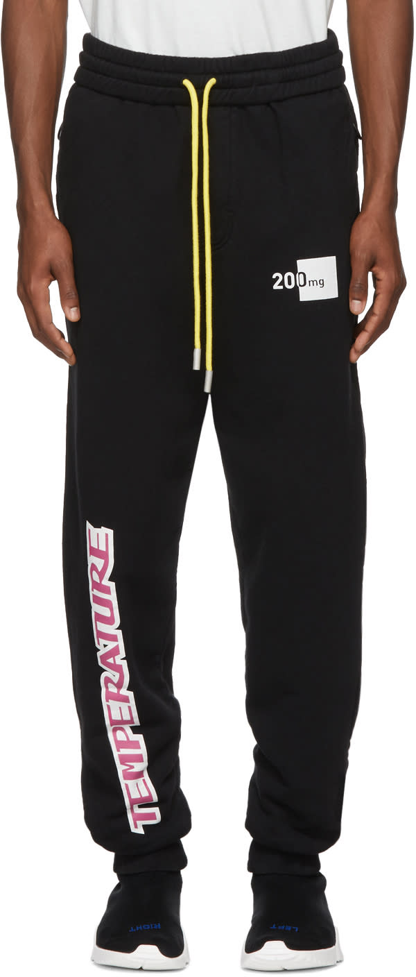 Off white Black temperature Lounge Pants