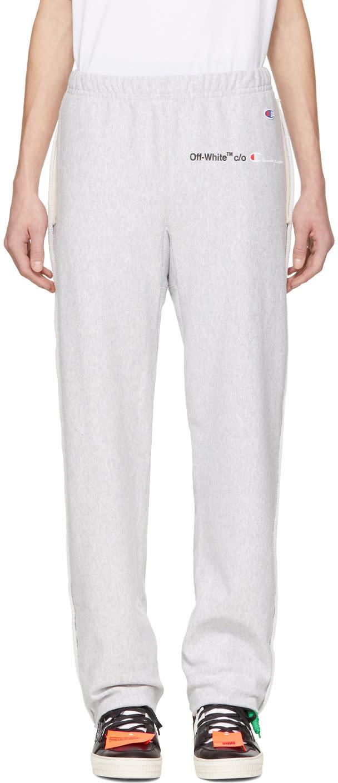 Off-white Pantalon De Survêtement Gris édition Champion