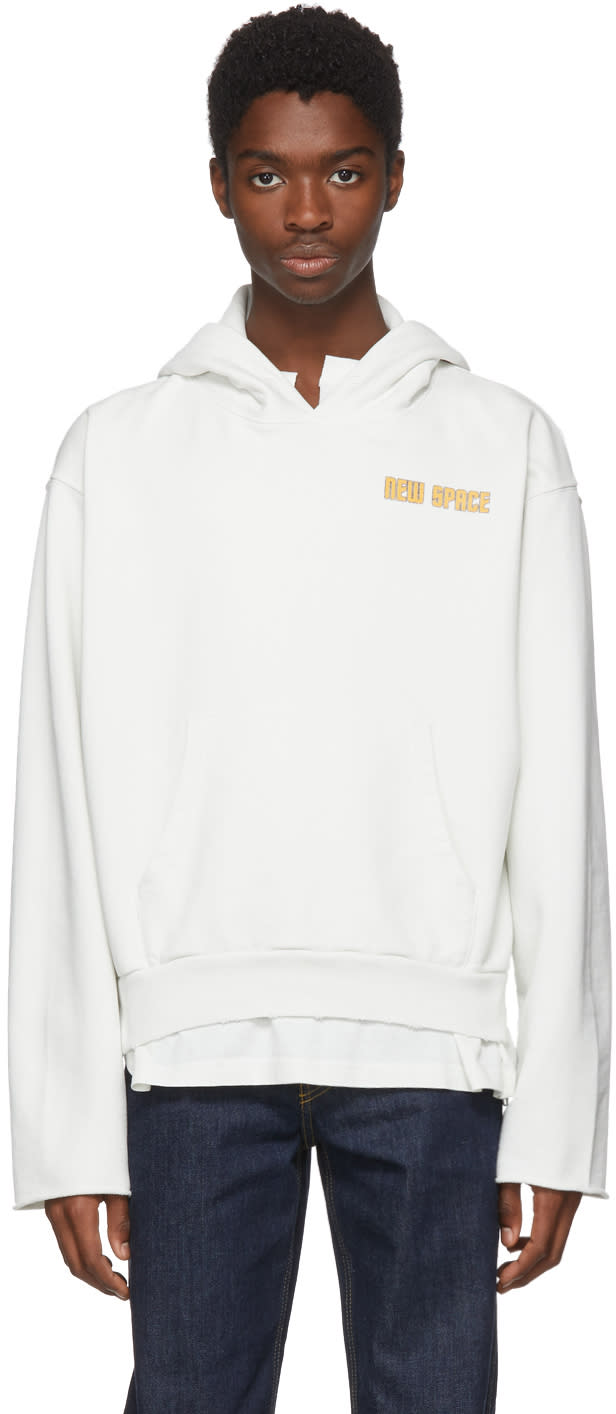 Off white White Space On Deck Art Dad Hoodie
