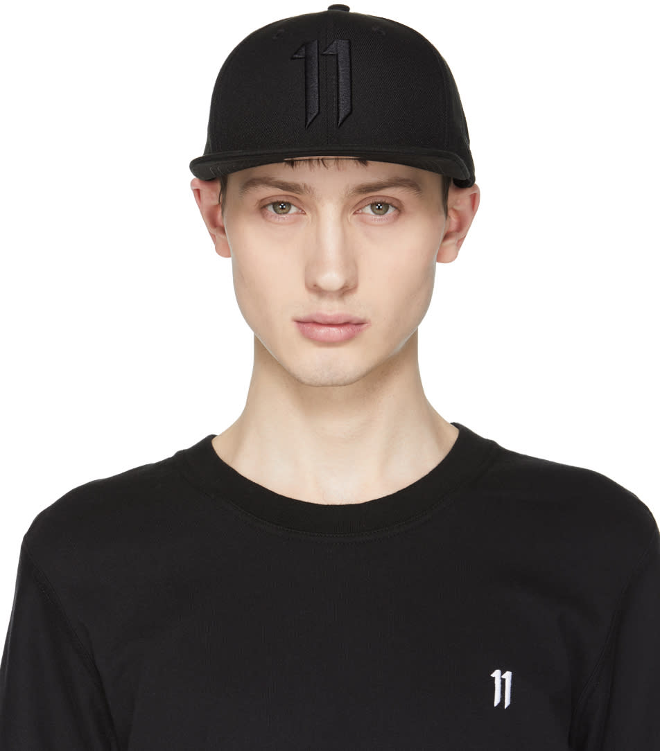 11 By Boris Bidjan Saberi Black New Era Edition Logo Cap