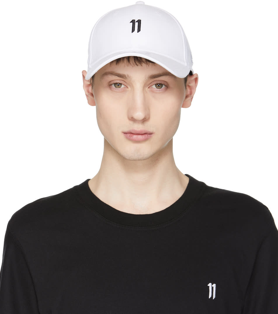 11 By Boris Bidjan Saberi White and Black New Era Edition Logo Cap