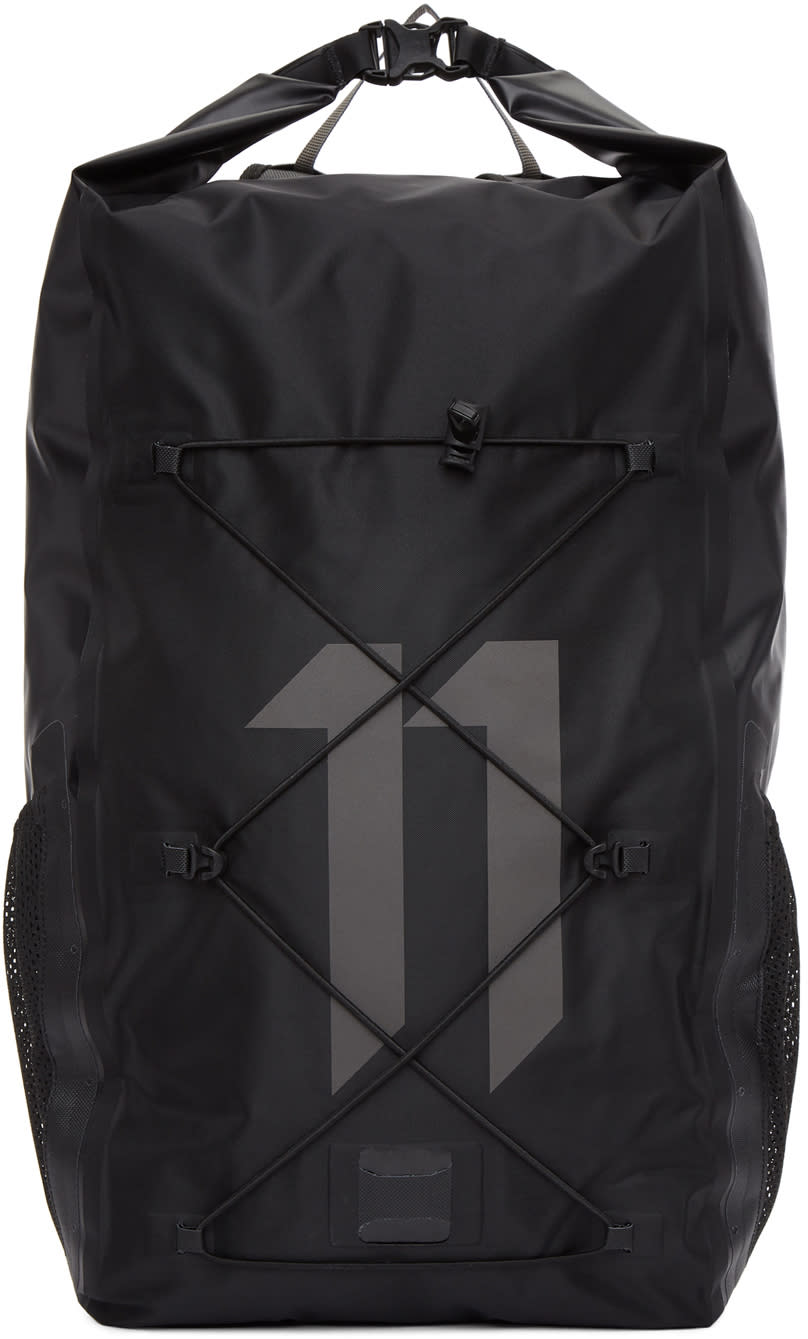 11 By Boris Bidjan Saberi Black Ortlieb Edition Nylon Logo Backpack
