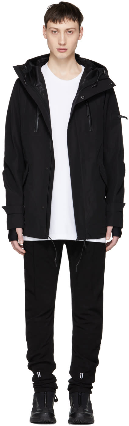 11 By Boris Bidjan Saberi Black Hooded Zip up Jacket
