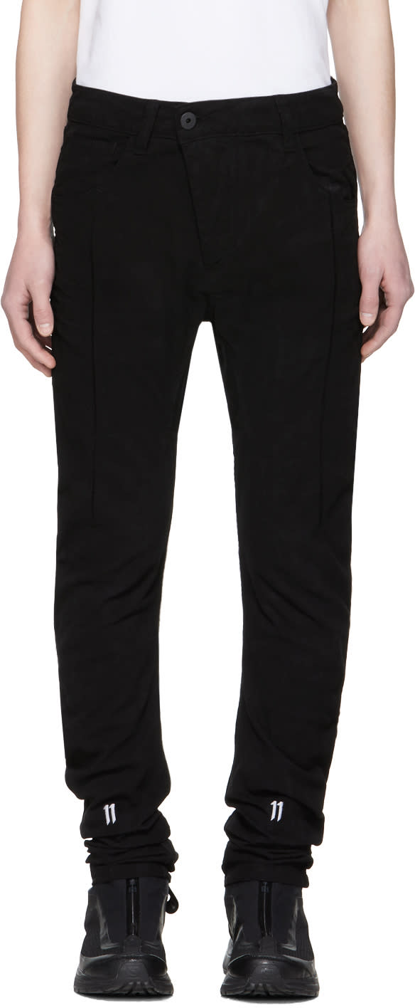 11 By Boris Bidjan Saberi Black Shaped Jeans