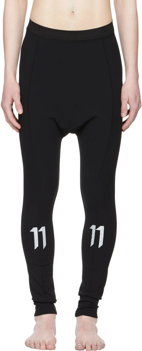 11 By Boris Bidjan Saberi Black Tight Lounge Pants