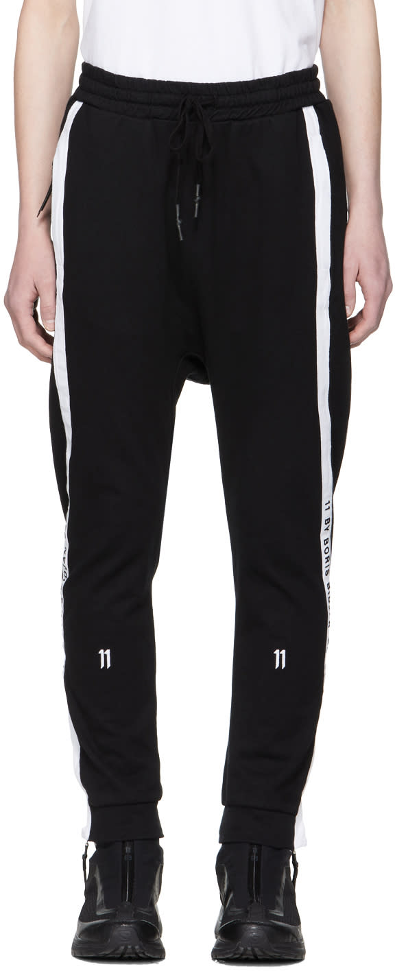 11 By Boris Bidjan Saberi Black Logo Tape Lounge Pants