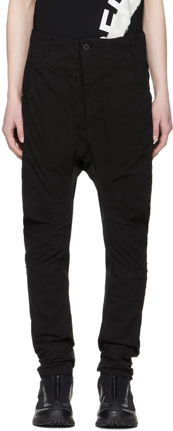 11 By Boris Bidjan Saberi Black Shaped Button up Trousers
