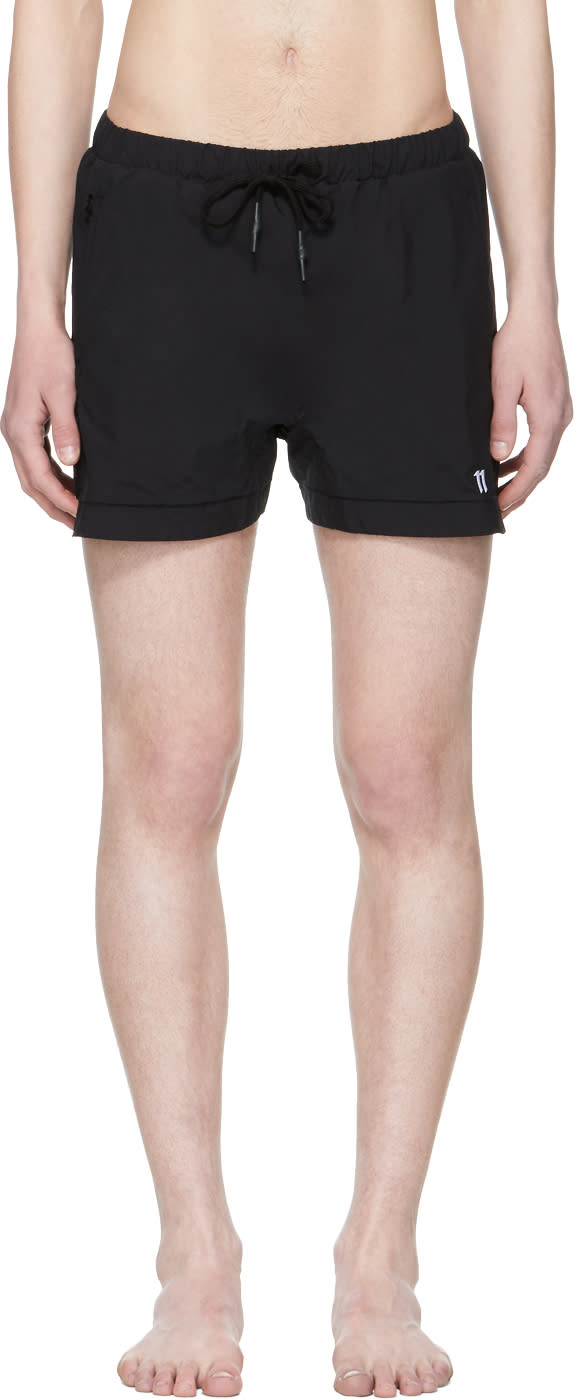 11 By Boris Bidjan Saberi Black Swim Shorts