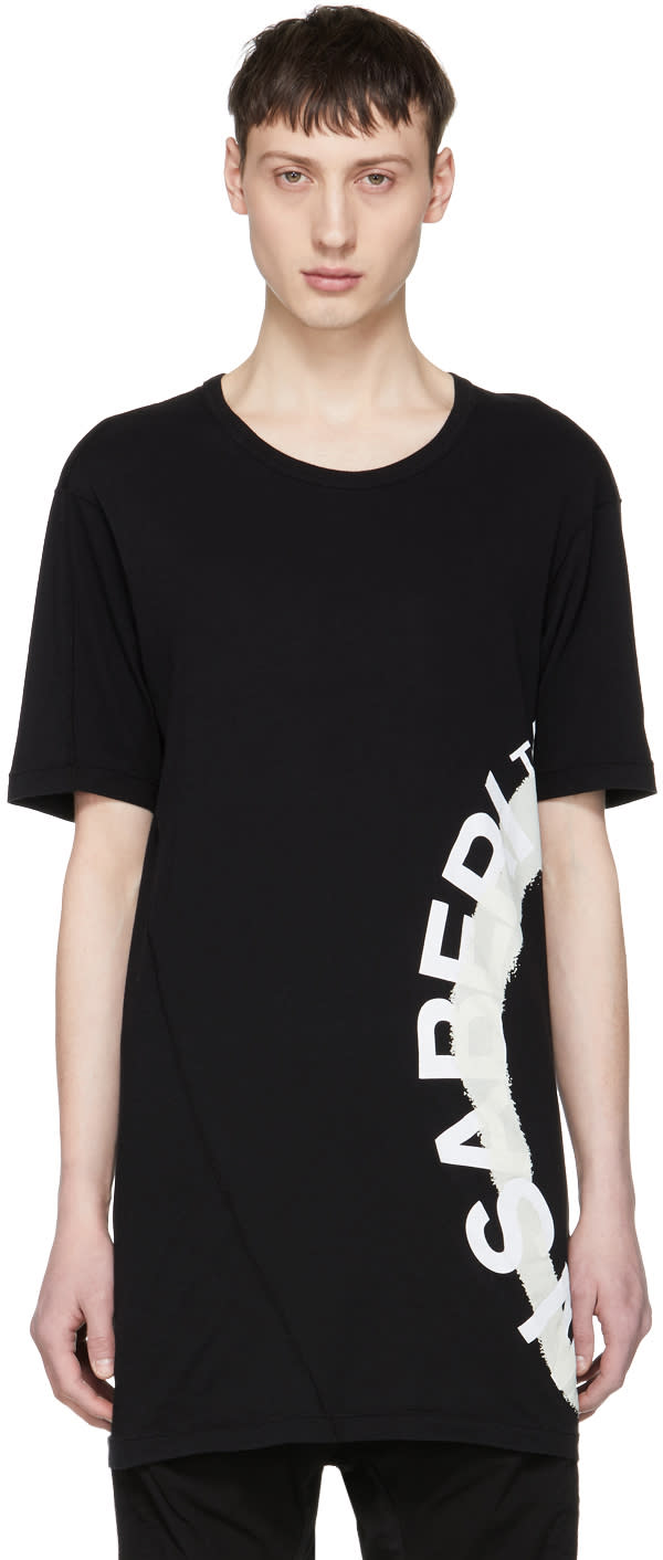 11 By Boris Bidjan Saberi Black Wheel Logo T shirt