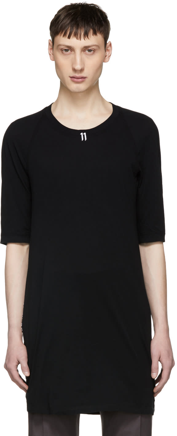 11 By Boris Bidjan Saberi Black Logo and Type T shirt