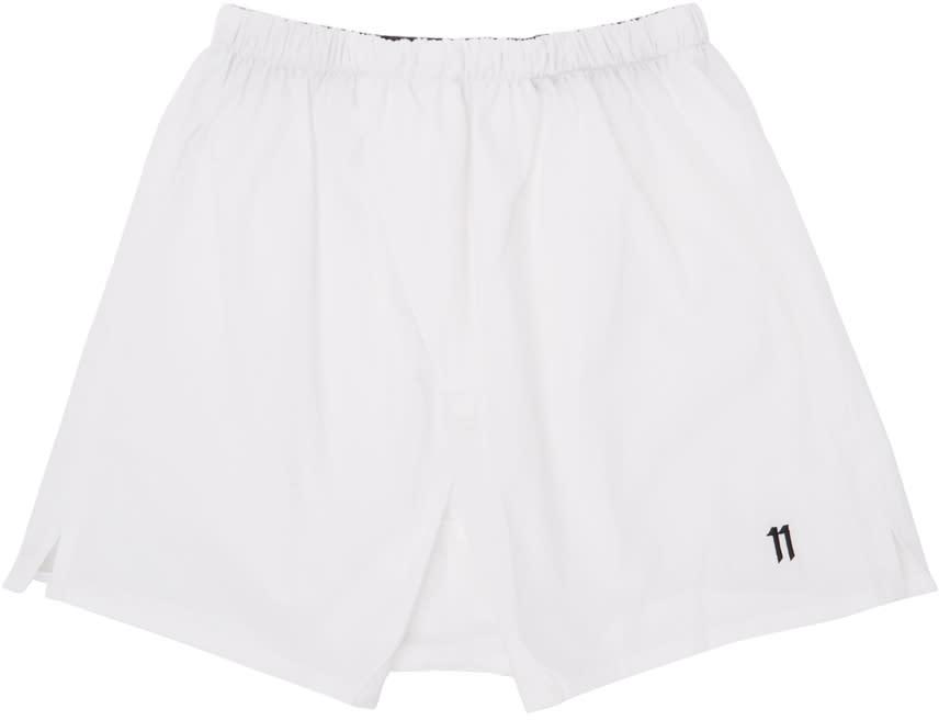 11 By Boris Bidjan Saberi White Logo Boxers