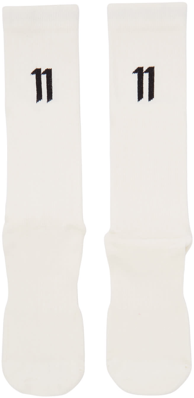 11 By Boris Bidjan Saberi Three pack Off white Logo Socks
