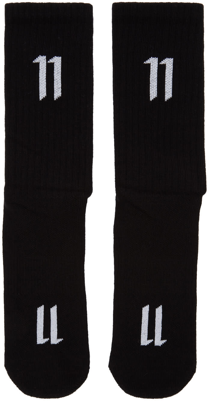 11 By Boris Bidjan Saberi Three pack Black Logo Socks