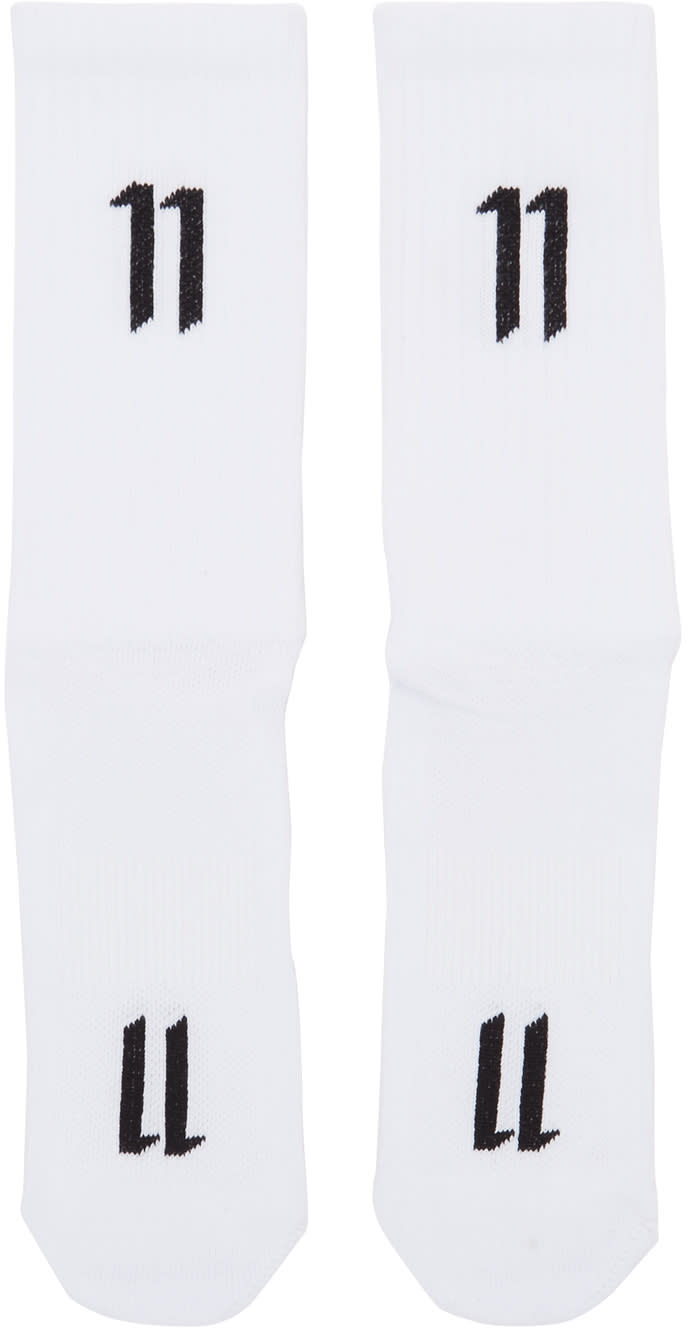 11 By Boris Bidjan Saberi Three pack White Logo Socks