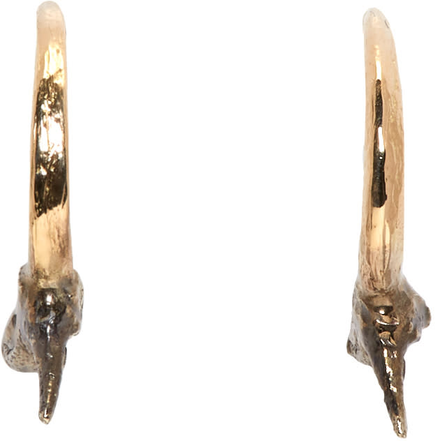 Image of Pearls Before Swine Gold and Silver Small Thorn Hoop Earrings
