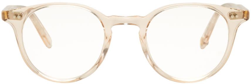 Image of Garrett Leight Beige Clune Glasses