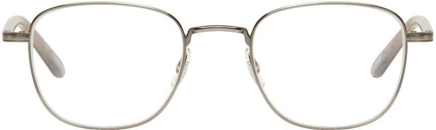 Image of Garrett Leight Gunmetal Garfield Glasses