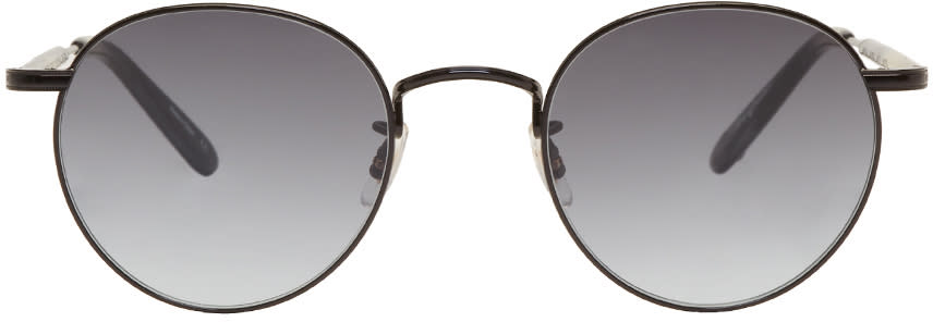 Image of Garrett Leight Black Wilson M Sunglasses