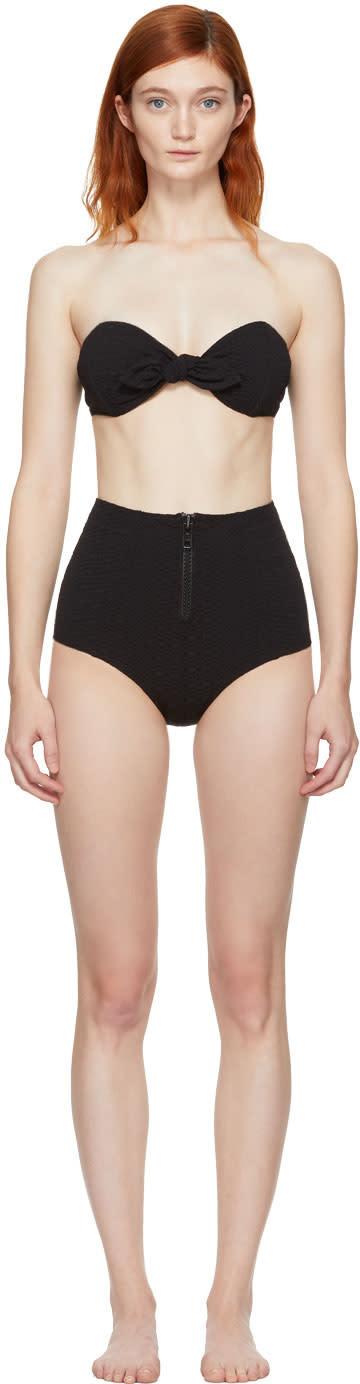 Image of Lisa Marie Fernandez Black Poppy Zip Bikini