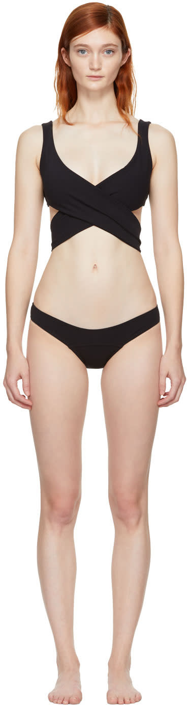 Image of Lisa Marie Fernandez Black Marie-louise Bikini