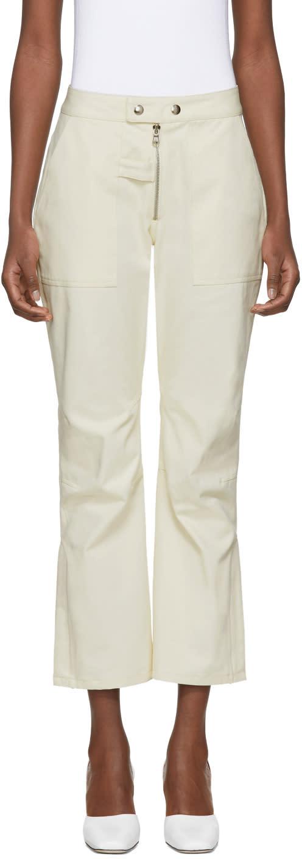 Image of Nomia Beige Moto Trousers