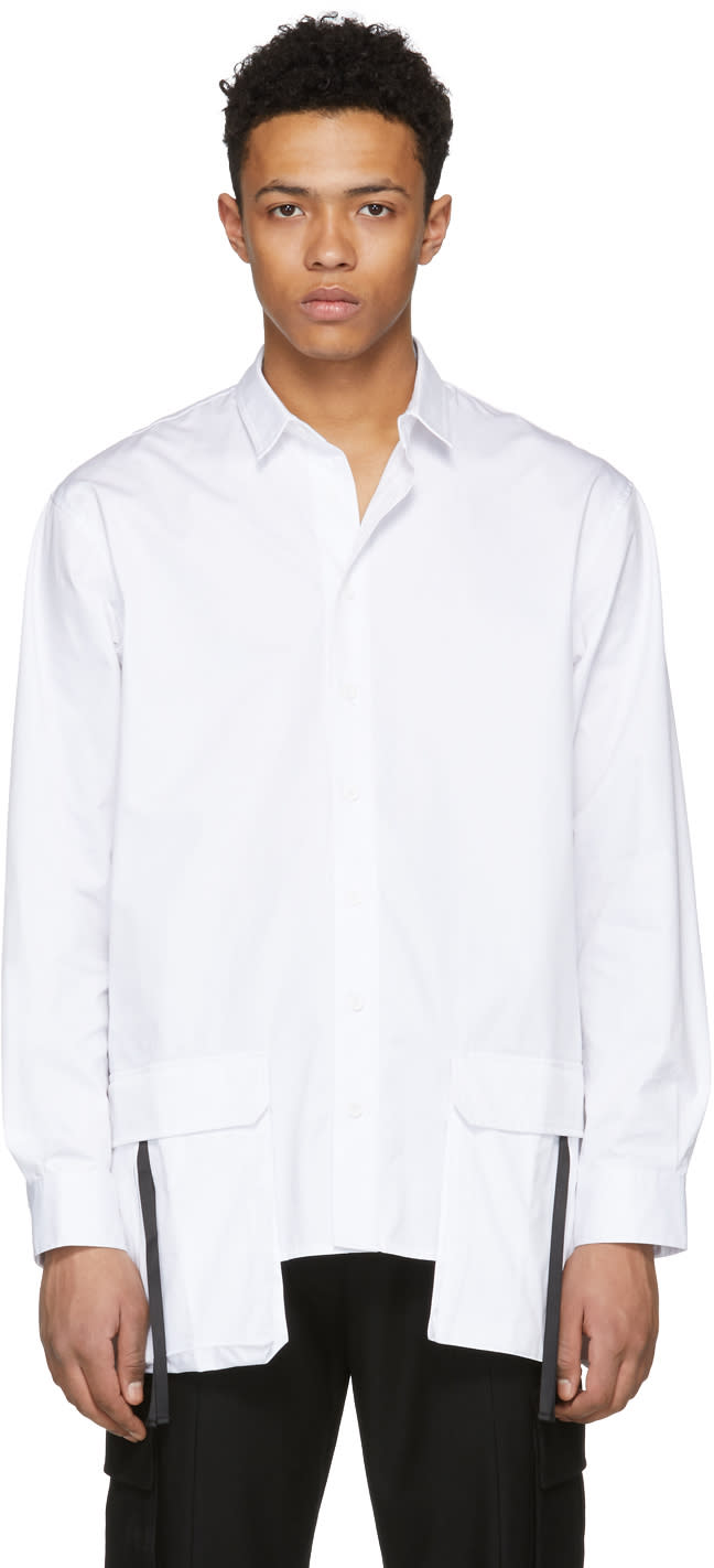 D By D Chemise Blanche Front Pocket