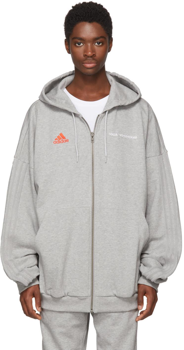 Gosha Rubchinskiy グレー Adidas Originals Edition ロゴフーディ