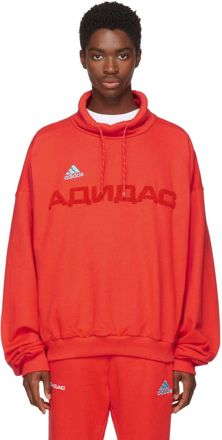 Gosha Rubchinskiy レッド Adidas Originals Edition ファネル ネック スウェットシャツ