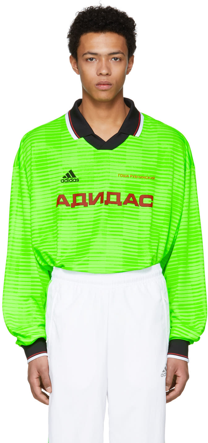 Gosha Rubchinskiy グリーン Adidas Originals Edition ポロ