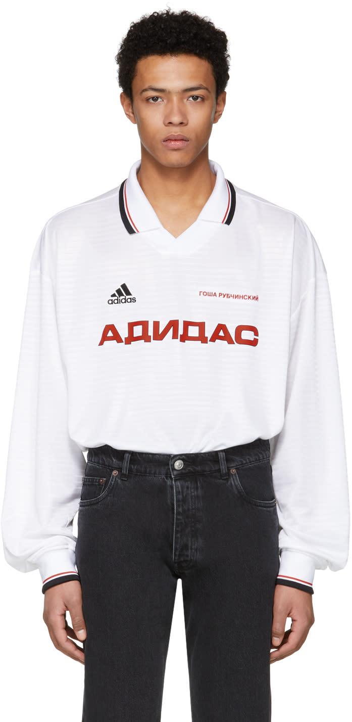Gosha Rubchinskiy ホワイト Adidas Originals Edition ポロ