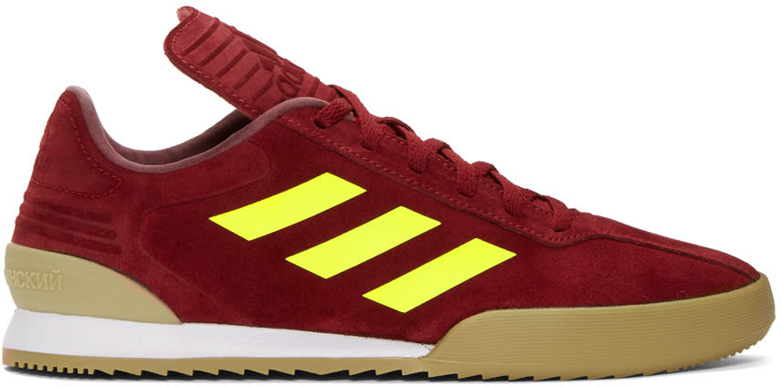 469eb7628 Gosha Rubchinskiy Burgundy Adidas Originals Edition Copa Super Sneakers