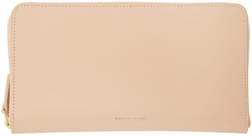 Image of Mansur Gavriel Beige Continental Wallet