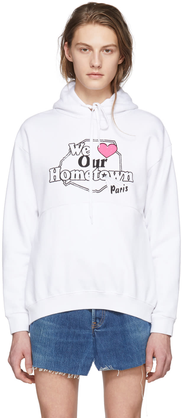 Vetements White hometown Hoodie
